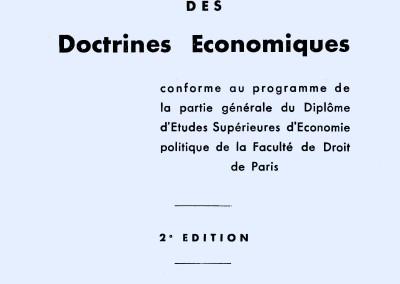 Précis d'histoire des doctrines économiques (1942)