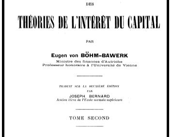 Histoire critique des théories de l'intérêt du capital – Tome 2 (1903)