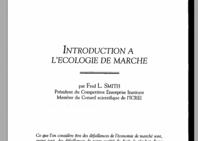 Introduction à l'écologie de marché (1990)