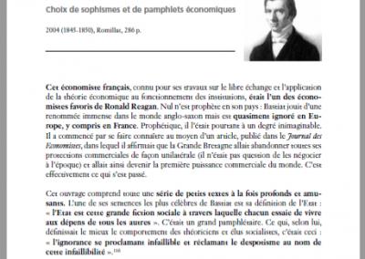Présentation de Bastiat par Corentin de Salle (2009)