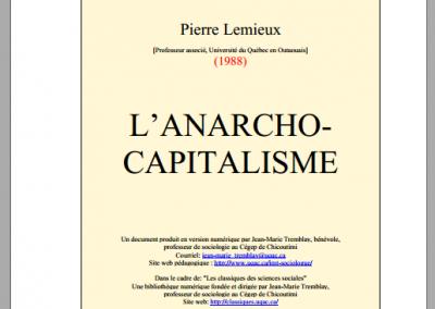 L'anarcho-capitalisme (1988)