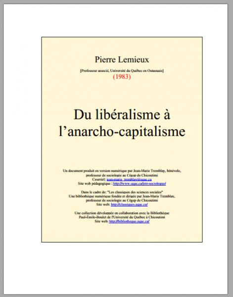 Du libéralisme