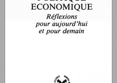 Politique économique : réflexions pour aujourd'hui et pour demain (1979)