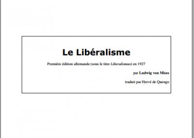 Le libéralisme (1927)
