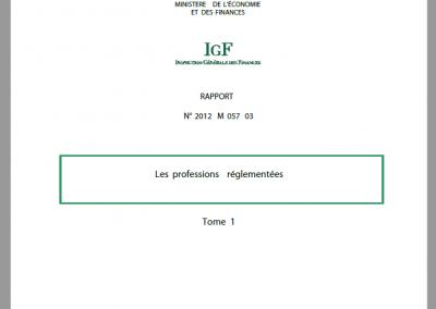 Les professions réglementées (2013)